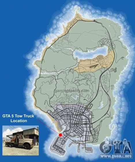 Dónde encontrar Tow truck en GTA 5