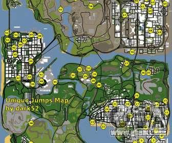 Mapa únicos saltos en el GTA San Andreas