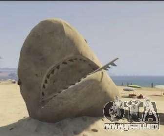 GTA V tiburón de arena en la playa
