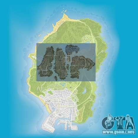 una comparación del tamaño de los mapas de GTA 5 y GTA 4