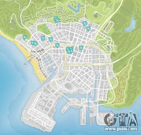 Cuchillo de vuelo de el mapa de GTA 5