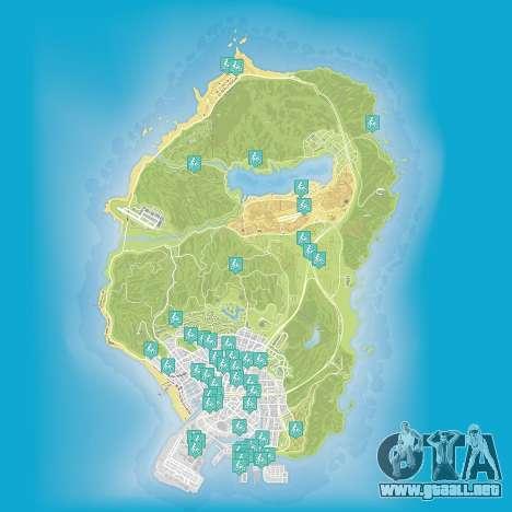 Mapa de saltos acrobáticos en Grand Theft Auto 5