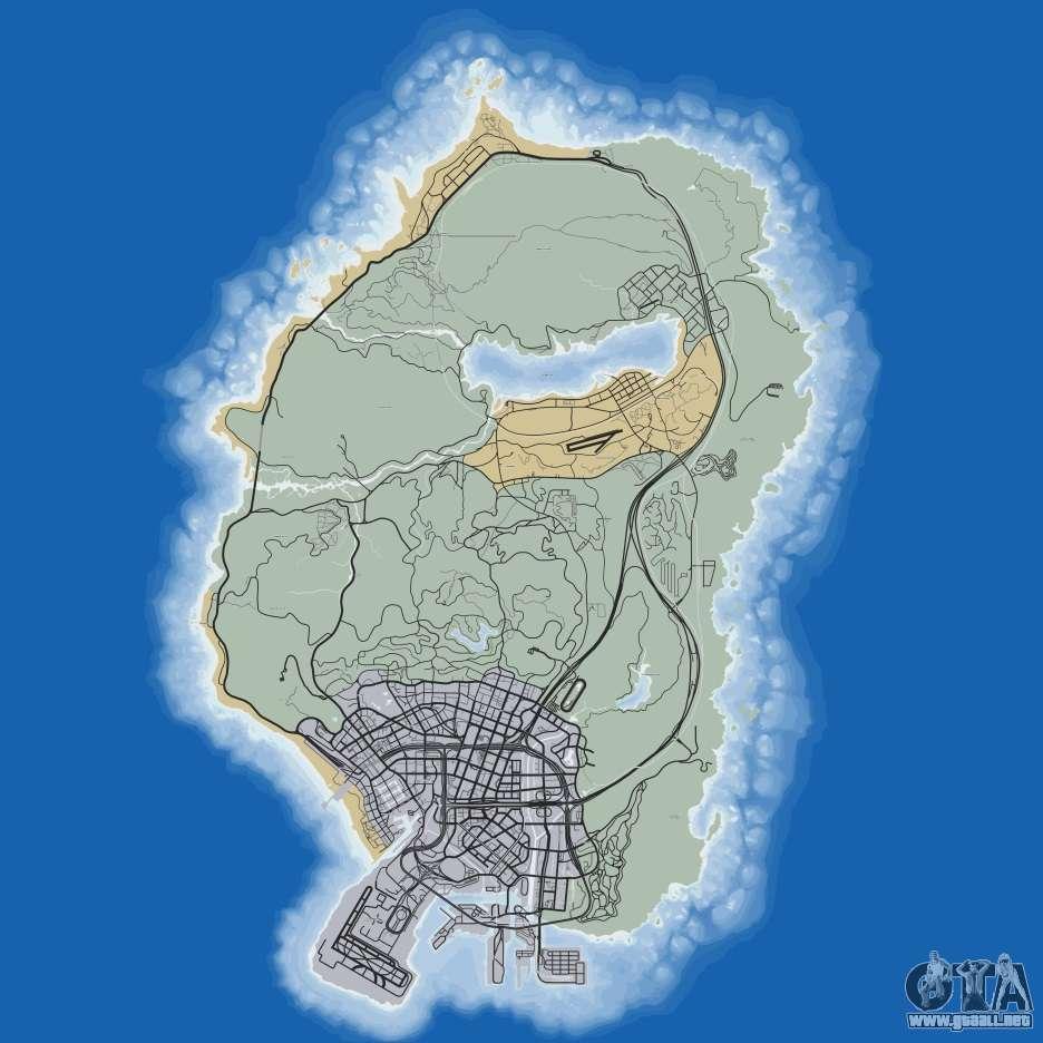 mapa gta 5 Mapa de GTA 5 mapa gta 5