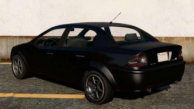 DeClasse Premier de GTA 5 - vista desde atrás