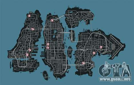 Mapa de garajes en GTA 4