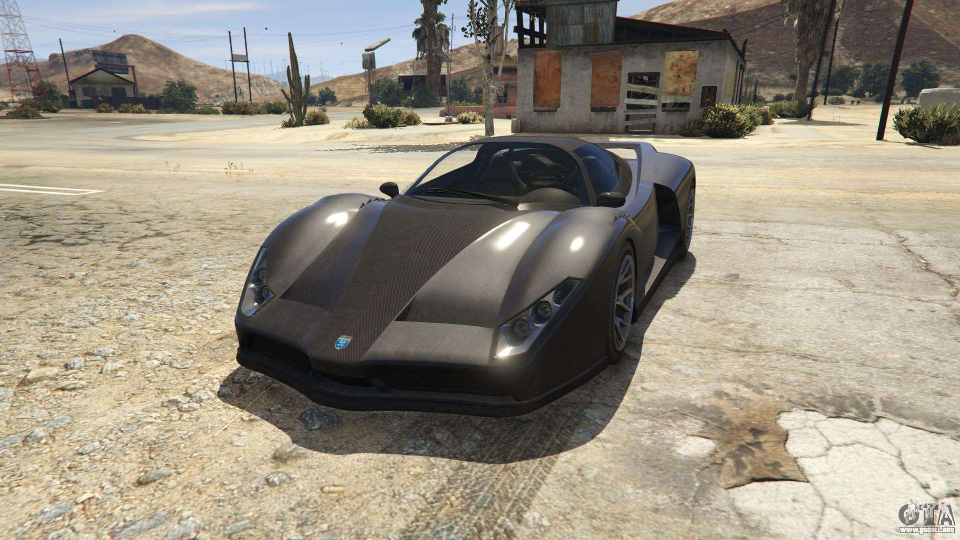 Grotti Cheetah de GTA 5 - vista frontal