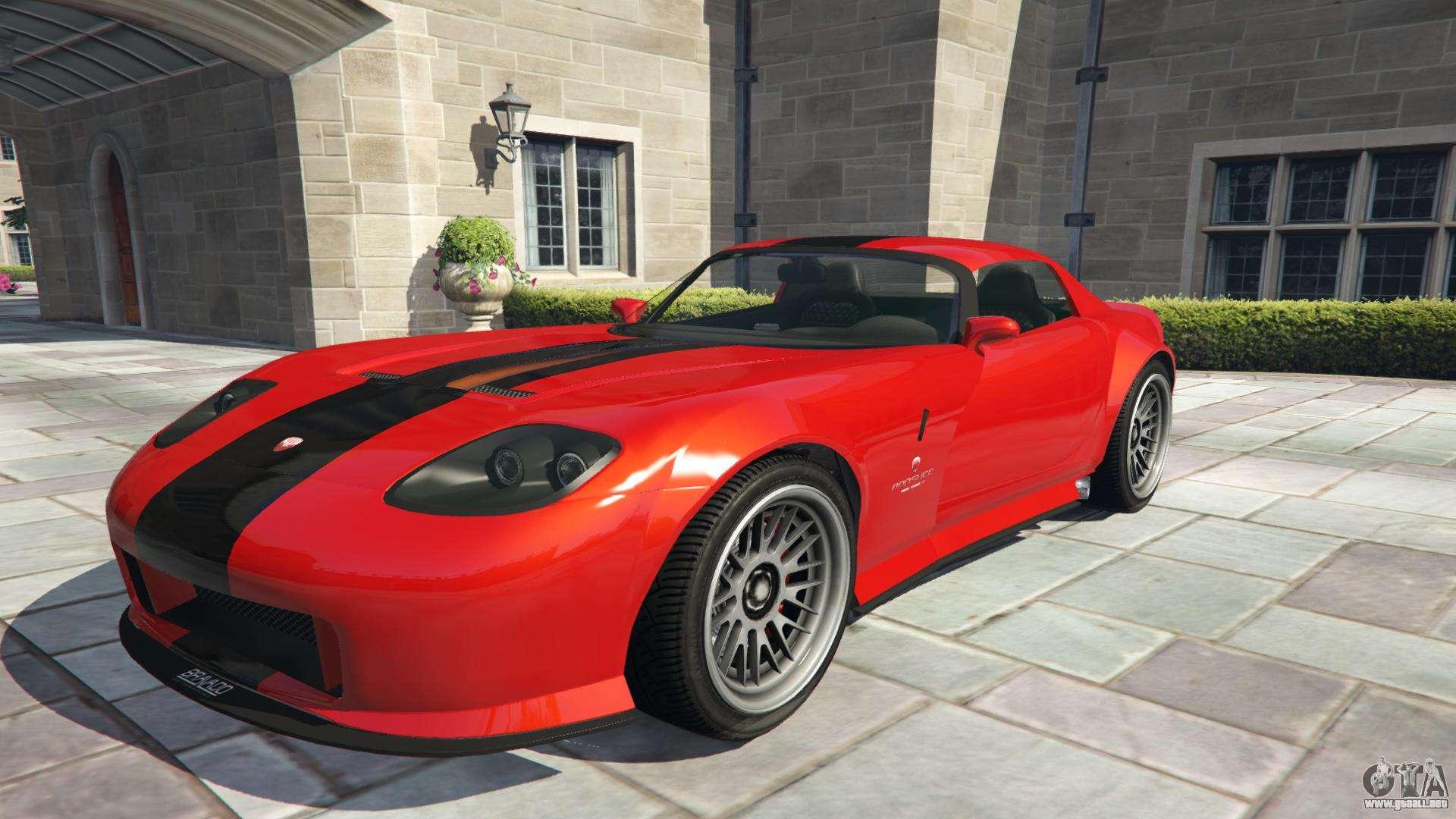 Bravado Banshee de GTA 5 - vista frontal