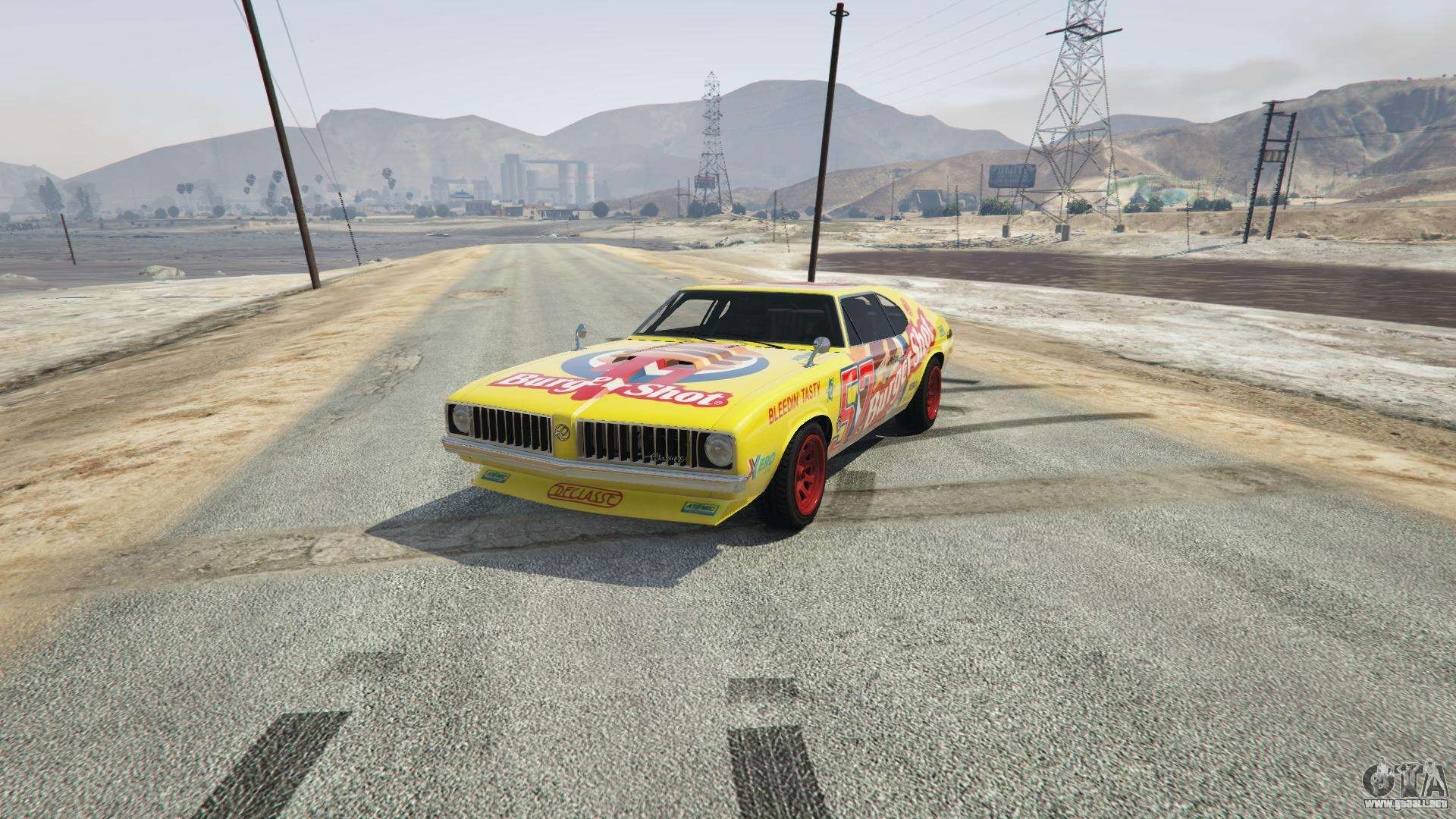 Burger Shot Stallion de GTA 5 - vista frontal
