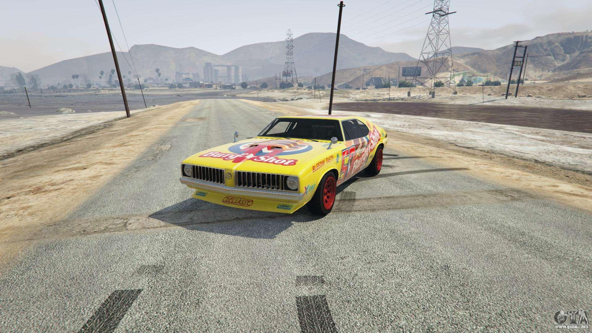 Burger Shot Stallion de GTA 5 - vista frontal