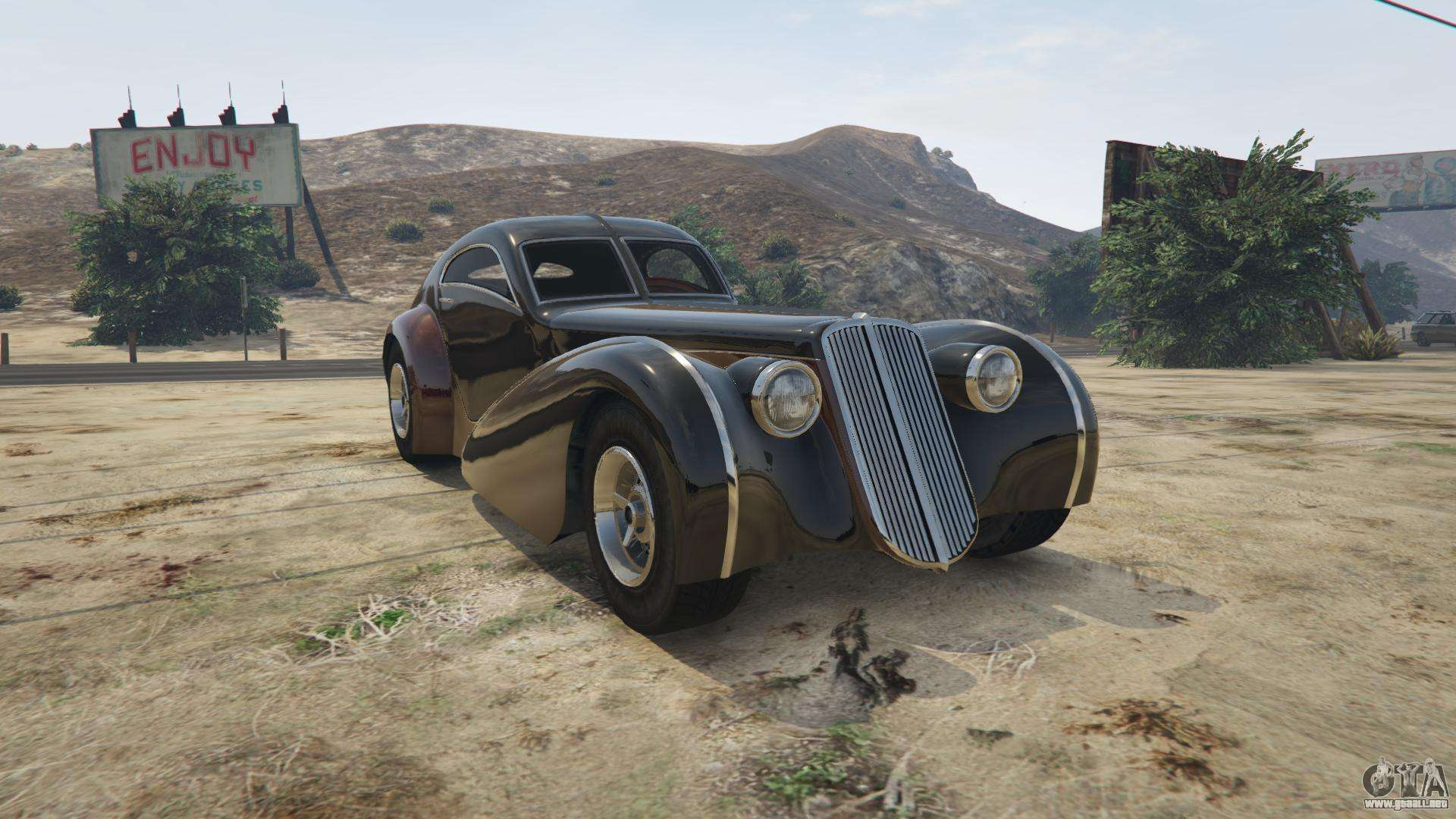 GTA 5 Truffade Z-Type - vista frontal