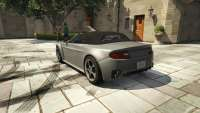 Dewbauchee Rapid GT Convertible de GTA 5 - vista posterior
