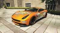 Dewbauchee Massacro Racecar de GTA 5 - vista frontal
