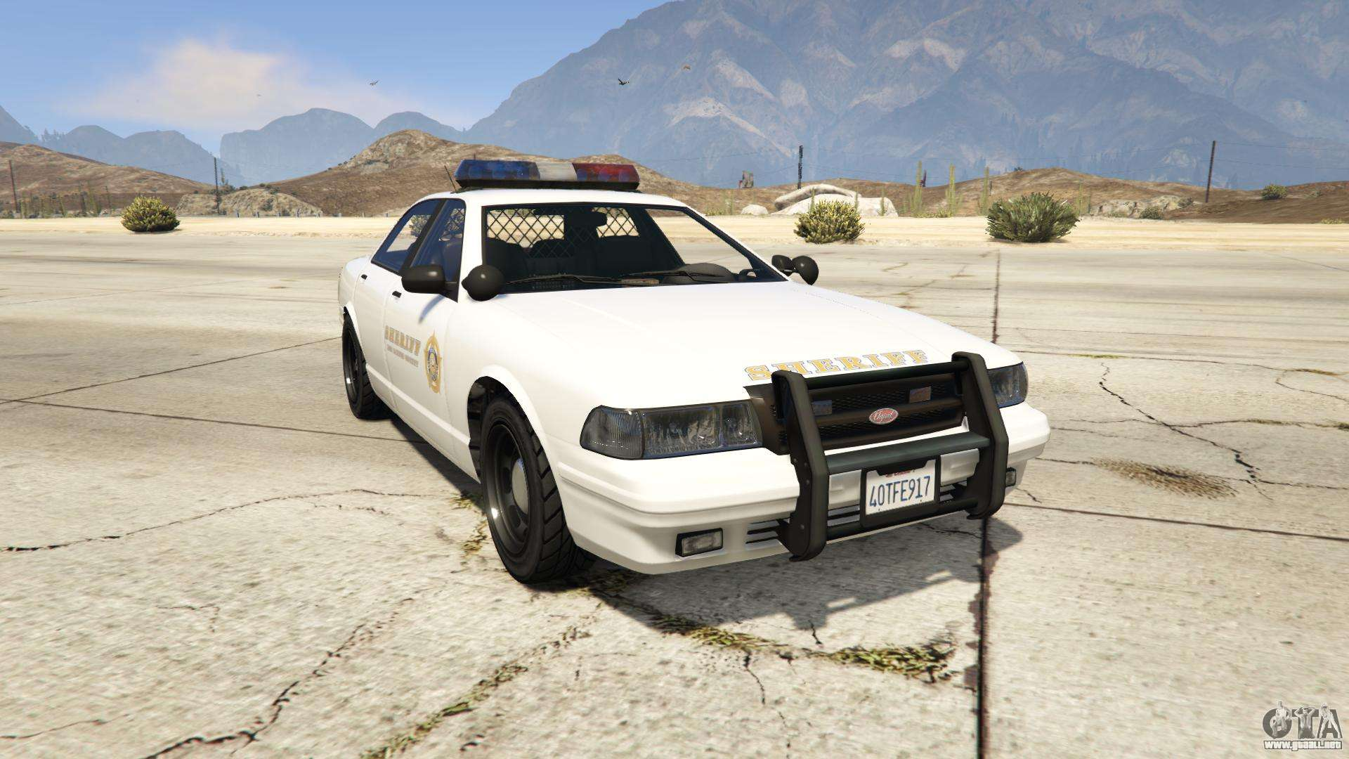 GTA 5 Vapid Sheriff Cruiser - vista frontal