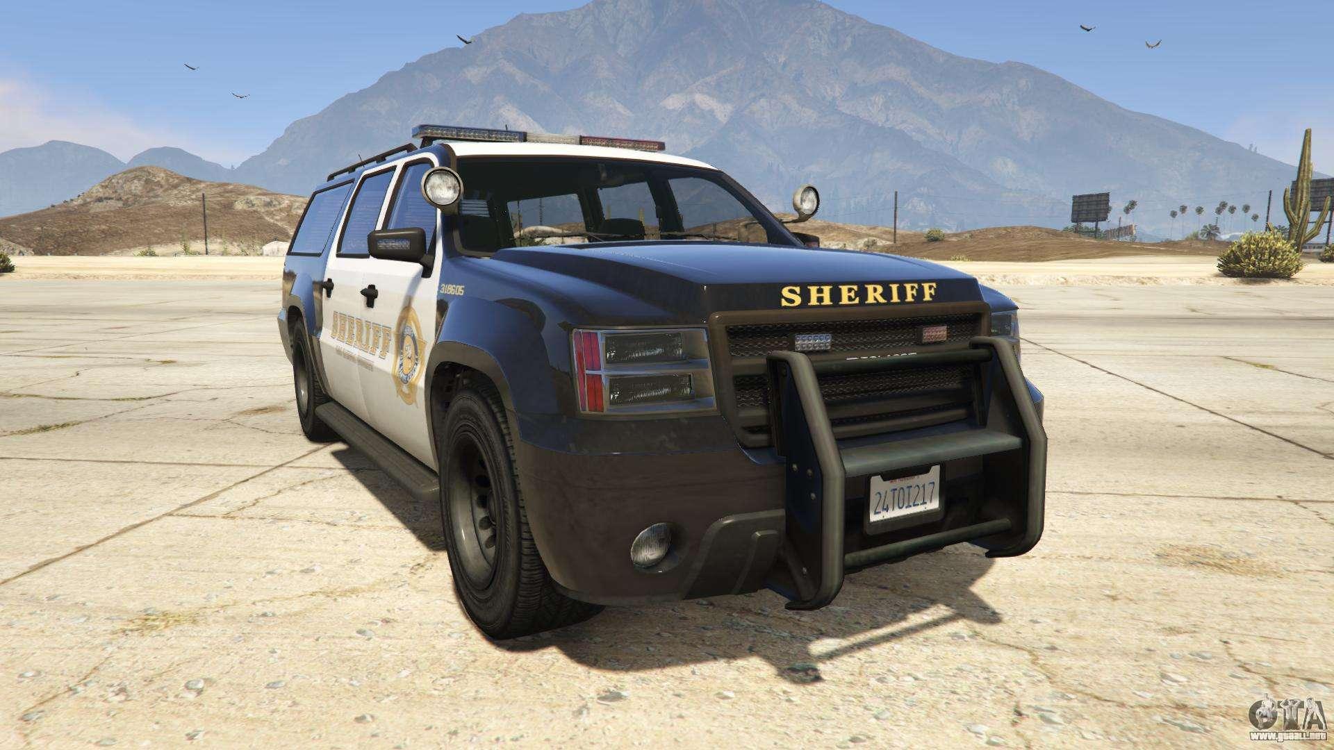 GTA 5 Declasse Sheriff SUV - vista frontal