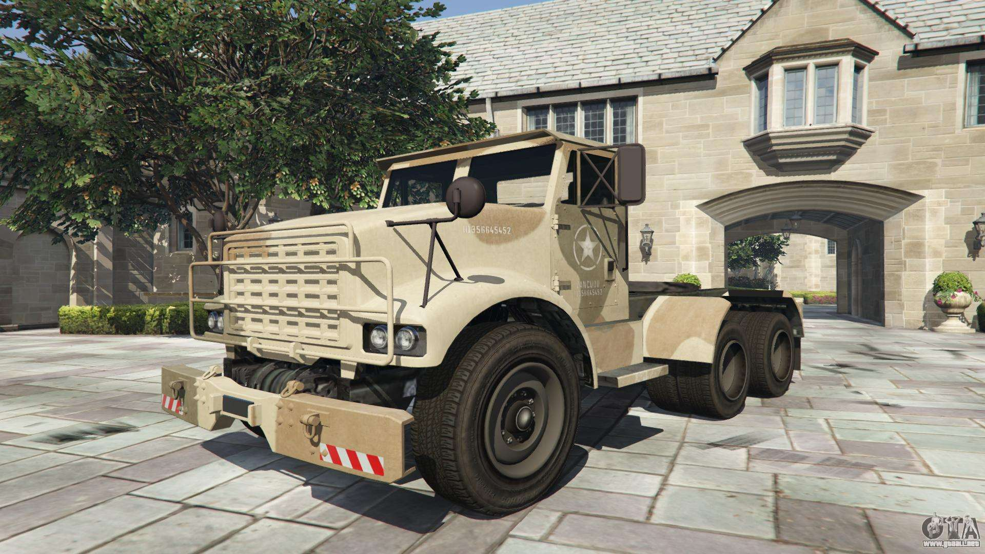 GTA 5 HVY Barraks Semi - vista frontal