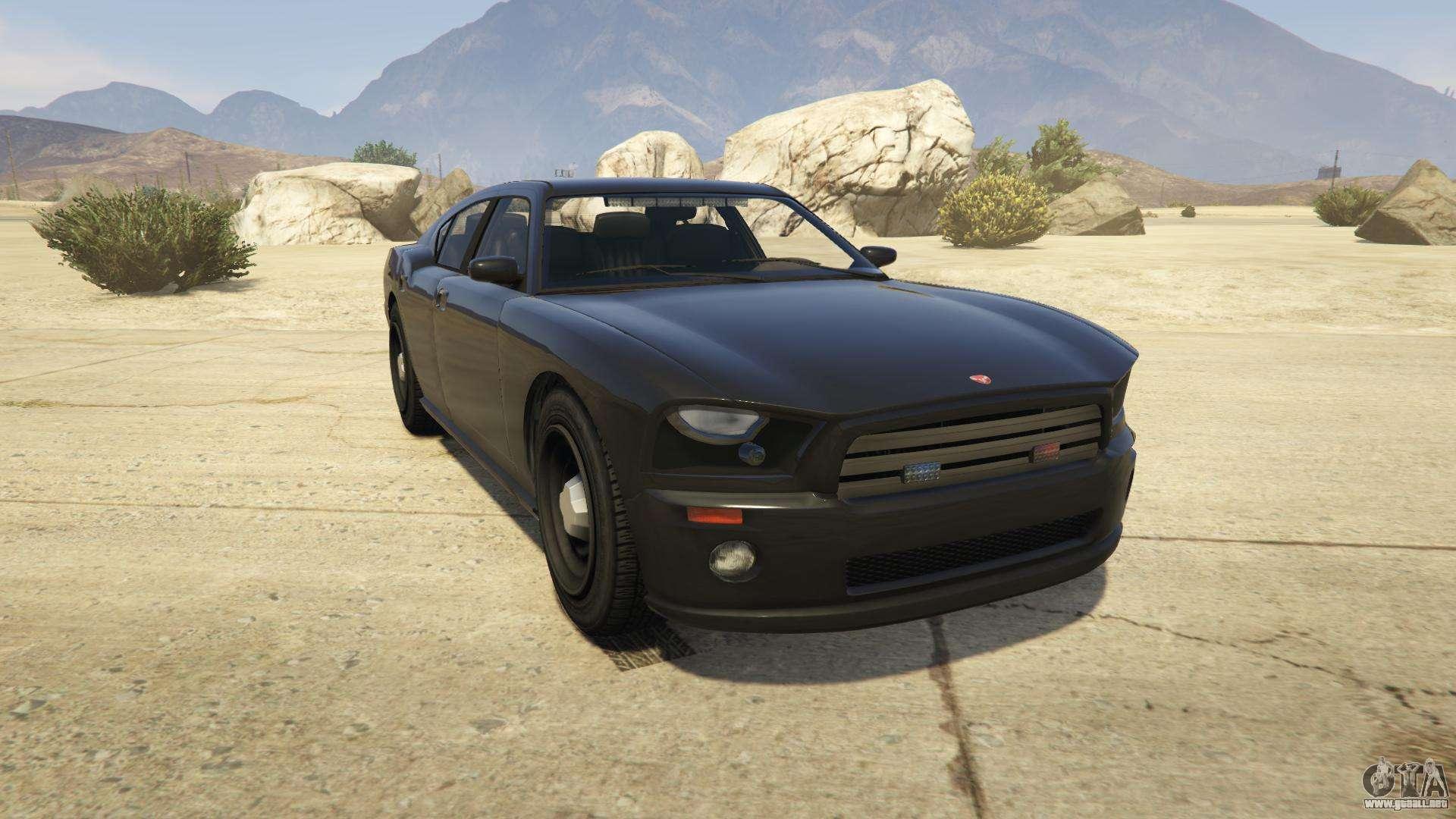 GTA 5 Bravado FIB Buffalo - vista frontal