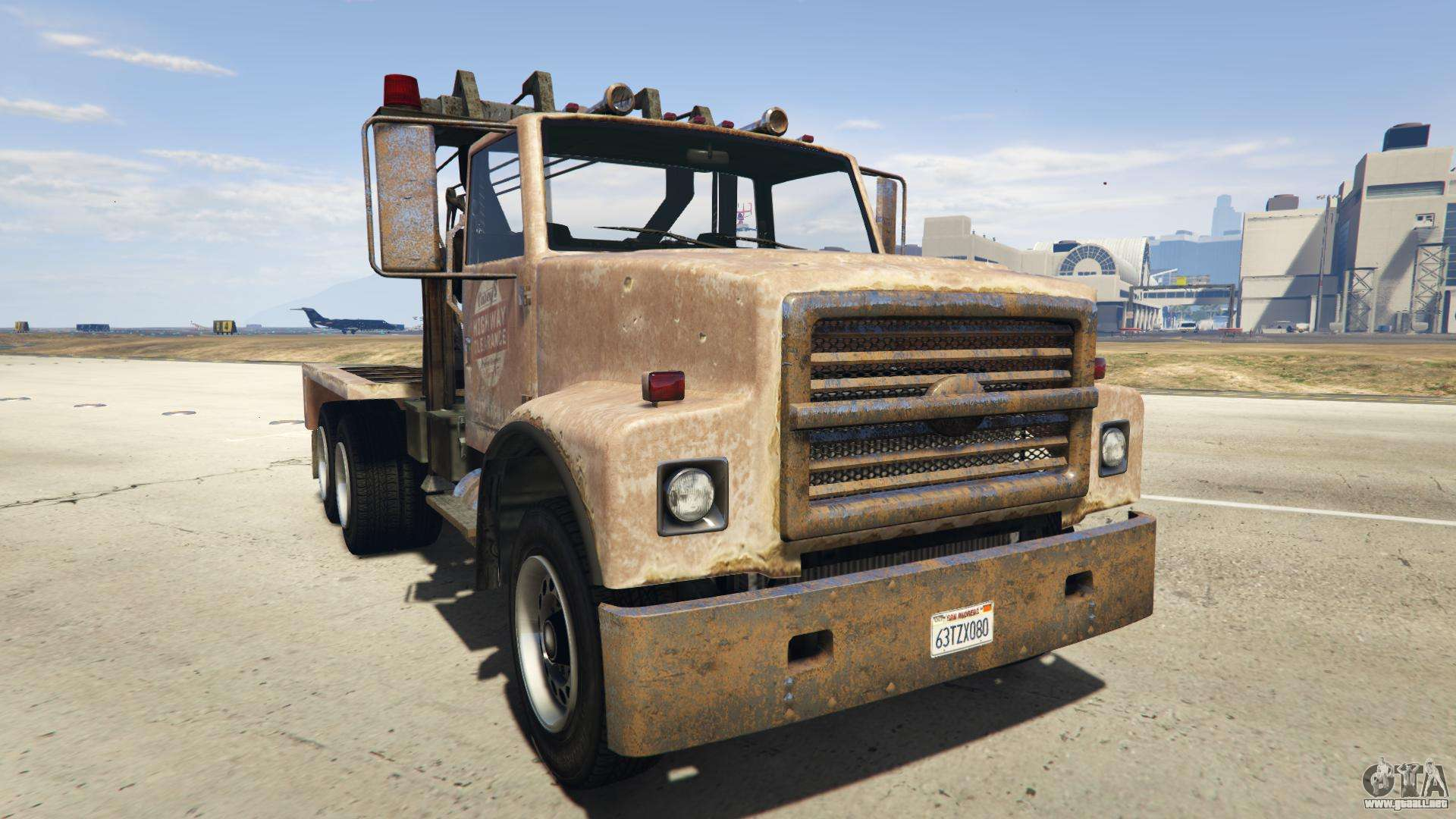 GTA 5 Vapid Towtruck Large - vista frontal