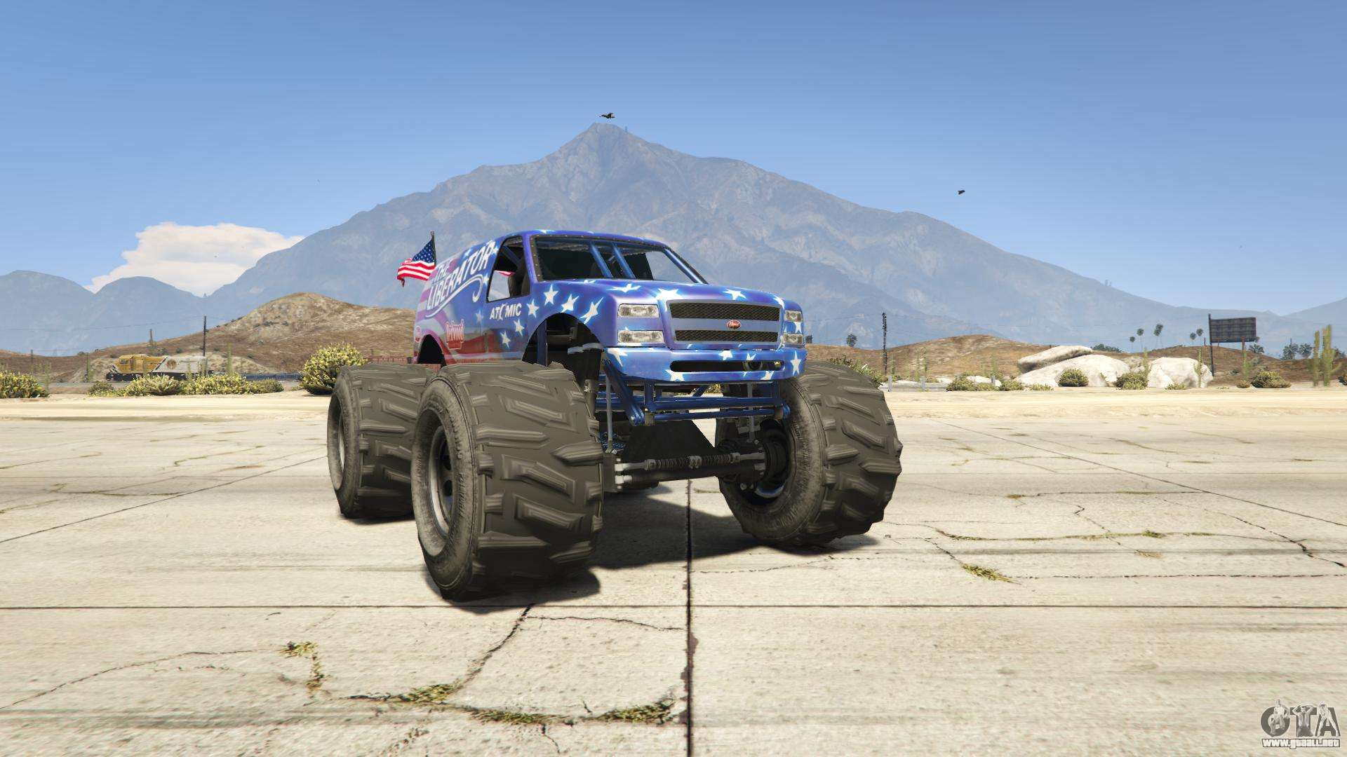 GTA 5 Vapid Liberator - vista frontal