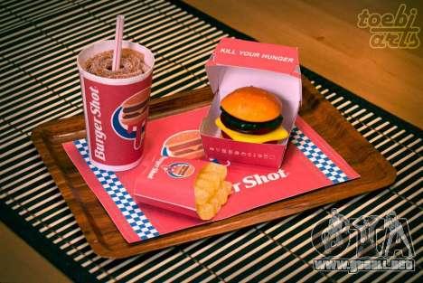 Burger Shot (Dulces) en el Menú