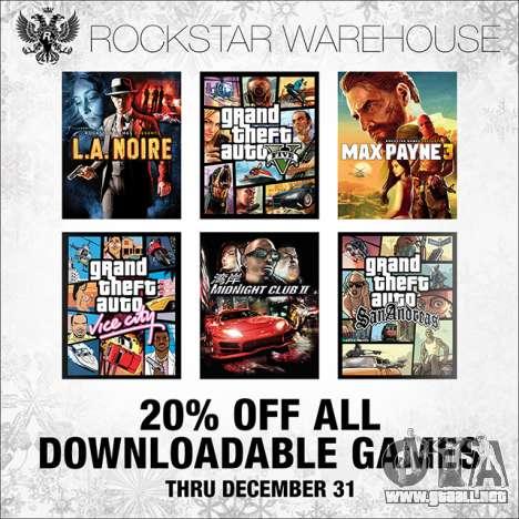 Descuento en el Rockstar Warehouse y el Vapor