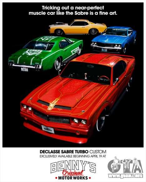 Declasse Sabre Turbo Custom disponible en GTA Online