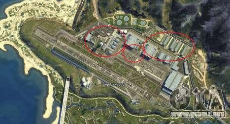 Mapa de Fort Zancudo de GTA 5