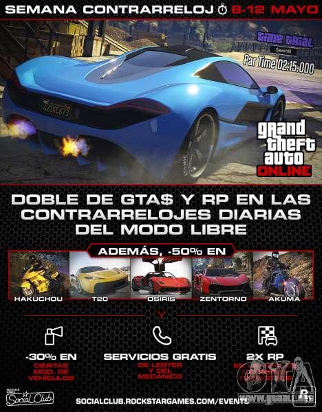 Nuevo evento de la semana en GTA Online