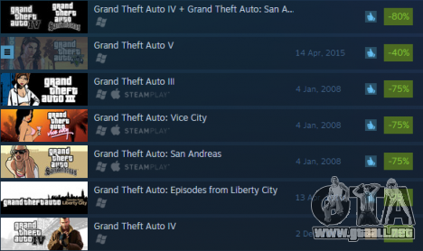 las grandes descuentos en Grand Theft Auto juegos