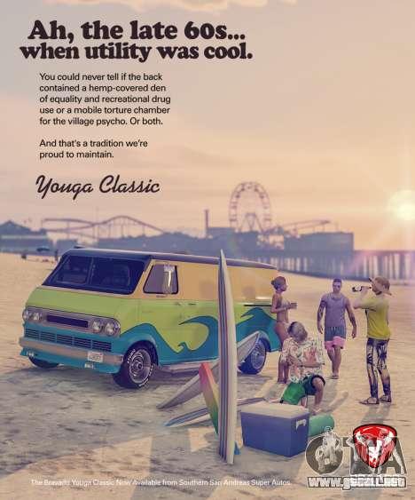 Vehículo nuevo Bravado Youga Classic para GTA Online