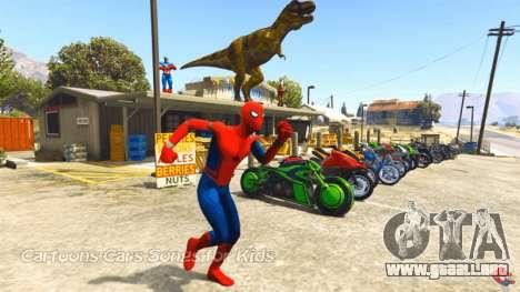El hombre araña en GTA 5