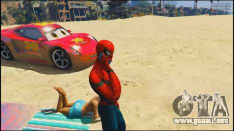 Spider-man en la playa en GTA 5