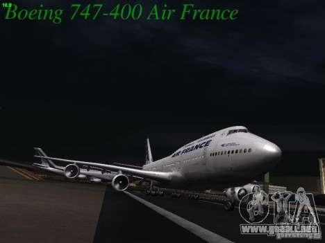 Boeing 747-400 Air France para visión interna GTA San Andreas