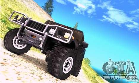 Hummer H1 para visión interna GTA San Andreas