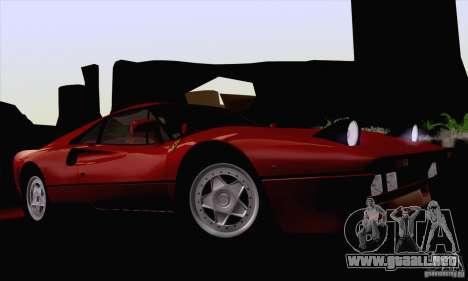 Ferrari 288 GTO 1984 para visión interna GTA San Andreas