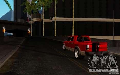 Dodge Ram 3500 Tuning para GTA San Andreas vista posterior izquierda