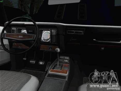 Chevrolet Camaro SS 1969 para la vista superior GTA San Andreas