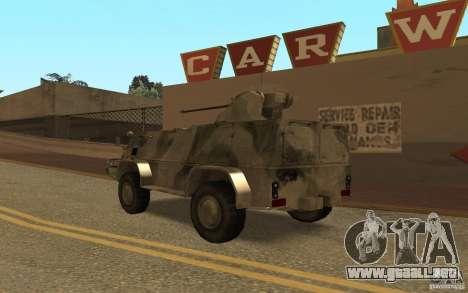 GAS-3937 Vodnik para GTA San Andreas vista posterior izquierda