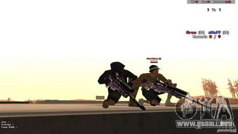 New Chrome Guns v1.0 para GTA San Andreas quinta pantalla