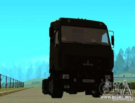 MAZ 5440 para GTA San Andreas vista posterior izquierda