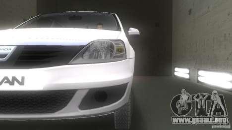Dacia Logan para GTA Vice City vista lateral