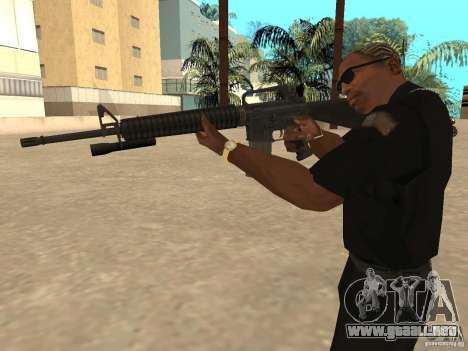 M4A1 from Left 4 Dead 2 para GTA San Andreas sucesivamente de pantalla