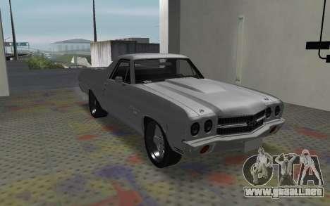 Chevrolet El Camino SS para GTA San Andreas left