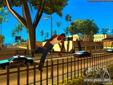 New Animations V1.0 para GTA San Andreas quinta pantalla