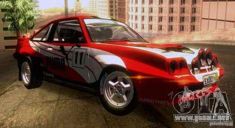 Opel Manta 400 para las ruedas de GTA San Andreas