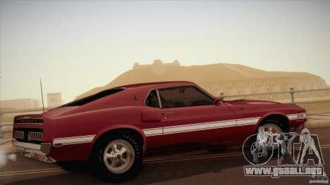 Shelby GT500 428 Cobra Jet 1969 para GTA San Andreas left