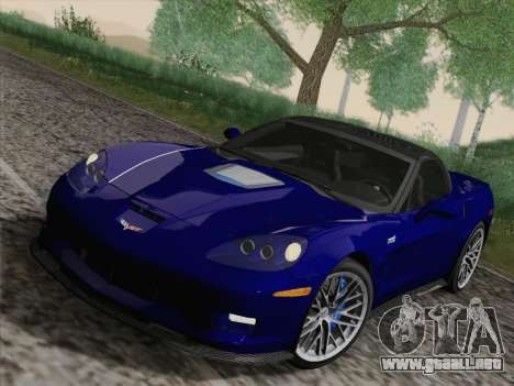 Chevrolet Corvette ZR1 para visión interna GTA San Andreas