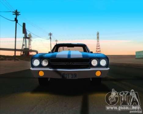Chevrolet EL Camino SS 70 para vista inferior GTA San Andreas