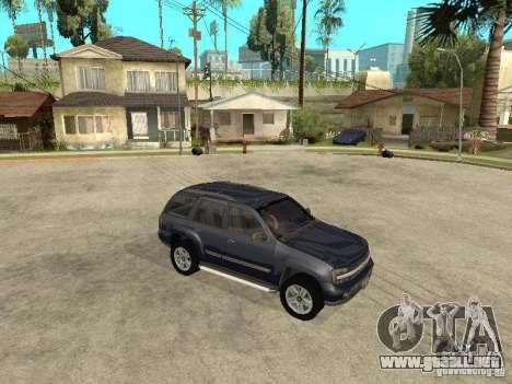 Chevrolet TrailBlazer 2003 para GTA San Andreas vista hacia atrás