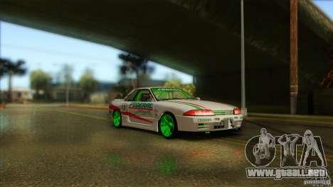 Nissan Skyline GT-R32 BadAss para GTA San Andreas vista posterior izquierda