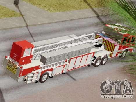 Pierce Arrow XT LAFD Tiller Ladder Truck 10 para las ruedas de GTA San Andreas